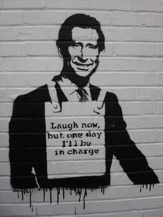 Laugh now... my favourite #jubilee #streetart. A Banksy remix by Pistol
