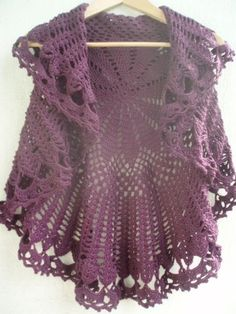 La ventana azul: 58.- Chaleco circular a crochet..  a charted pattern included... lovely circular vest...  <3