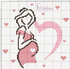 gravidanza maternità schema punto croce - cross Stitch - Kreuzstich - Punto de Cruz