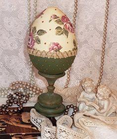Декупаж деревянное яйцо