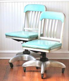 Mid Century General Fireproofing Office Chair Aqua by ivorybird, $260.00 Mobiliario y Sillas de Oficina