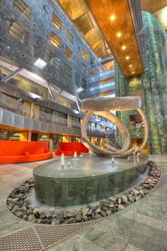 Central hall in Orbis Hospital of Sittard-Geleen (Netherlands)