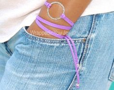 Boho Gold Round FLOWER Triple Wrap Charm Bracelet by WrappedinYou