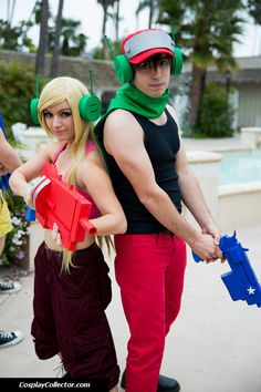 Curly Brace and Quote - Anime Conji 2013 The heroes of Cave Story!