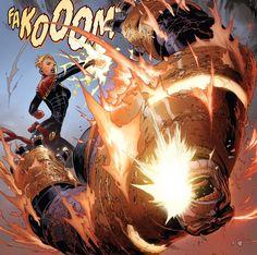 Civil War II ( Captain Marvel vs Thanos)
