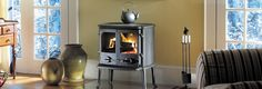Morsø 2110 double-door cast iron wood stove: this clean-burning stove can heat up to 1400 sq ft. Available from Rich's for the Home http://www.richshome.com/