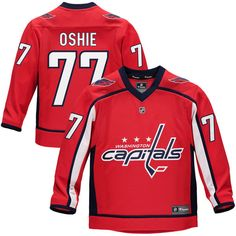 add7aa224 TJ Oshie Washington Capitals Fanatics Branded Youth Replica Player Jersey –  Red Washington Capitals Jersey