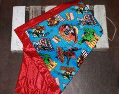 Silky Baby Blankets Superhero Blanket Marvels by SilkysandSuch