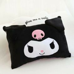 kuromi melody bowknot pink plush pillowcase pillow cover pillowcases anime