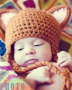 Fox baby hat.