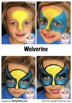 Wolverine Face Painting Design