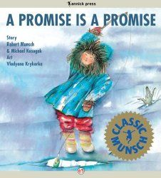 How to earn the blue promise center by reading Robert Munsch's A Promise is a Promise.