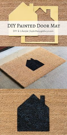 Learn how to make a custom-painted doormat--an easy DIY that requires very little time and supplies!
