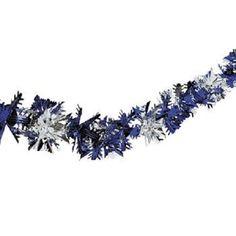 Christmas Blue & Silver Snowflake Garland Fun Express
