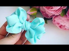 The bow of REP ribbons cm Alena Khoroshilova Making Hair Bows, Diy Hair Bows, Diy Bow, Diy Ribbon, Ribbon Crafts, Ribbon Bows, Boutique Bow Tutorial, Boutique Bows, Diy Hair Accessories