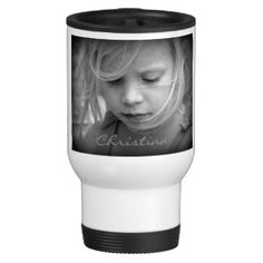 Shop Custom your photo personalized girls name, gift travel mug created by roughcollie. Gift Mugs, Gifts In A Mug, Wedding Mugs, Create Your Own Mug, Name Gifts, Stainless Steel Travel Mug, Parent Gifts, Personalized Mugs, Girl Names