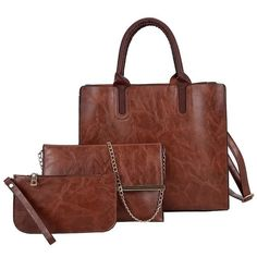 The best affordable 3 piece handbag set with fast shipping. Leather Crossbody Bag, Leather Handbags, Leather Backpack, Pu Leather, Crossbody Bags, Luxury Handbags, Purses And Handbags, Online Bags, Leather Shoulder Bag