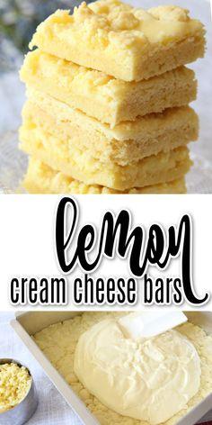 Lemon Dessert Recipes, Lime Recipes, Homemade Desserts, Easy Desserts, Sweet Recipes, Baking Recipes, Delicious Desserts, Lemon Cookie Recipe, Bar Cookie Recipes