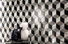 Minoli Tiles - Evolution Marvel - This is style! A luxurious unmistakable style! 3D Effect Marble look Mosaic from Marvel Collection by Minoli - Wall Tiles: Evolution Marvel Esagono Mosaico Multi Colour Cold Lappato - 30 x 35 cm. - http://www.minoli.co.uk/ranges/marble-look-porcelain-tiles/ - http://www.thesurfacewithin.co.uk/range/marble-effect-porcelain-tiles/ - #mosaic #featurewall #3D #effect #Marvel #Minoli