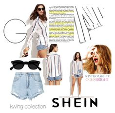 """""""kwingcollevtion#happinesse#peace"""" by khaoulakwing on Polyvore featuring Nobody Denim and Celestine"""