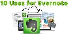 10 Ways to Use Evernote - MOMS: Learn how you can keep your grocery lists, medical records and more all in 1 spot and have access to all the time! If you are thinking of going paperless in your home, Evernote is AWESOME! #productivity