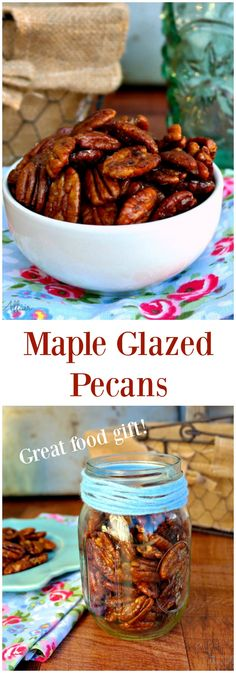 Maple Glazed Pecans are a scrumptious nut to snack on just as they are or they can be added to salads, tossed in yogurt, oatmeal or add in cookie batter! #Pecans #Snack #