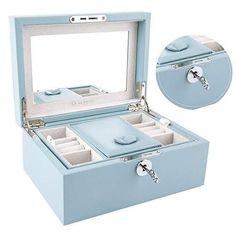 Wooden Jewelry Boxes, Jewellery Boxes, Jewellery Storage, Jewelry Organization, Jewelry Mirror, Jewelry Case, Jewelry Accessories, Girls Jewelry, Cute Jewelry