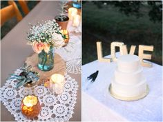 Sweet wedding table decor | Kacie Lynch Photography