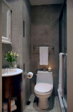 Favori Ufak Banyo Dekoru, gördüğünüz üzere ne kadarda dar olsa iyi bir banyo dekoru yapılabilmiş. Çok modern gözüküyor.
