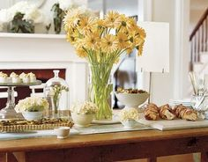 Easter Buffet Tablescape