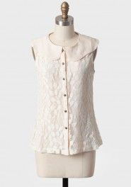 victorian skies lace top in cream