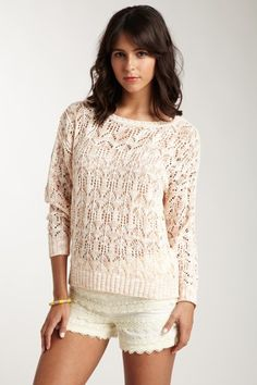 Kensie Open Knit Sweater