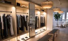 The notion of designing a boutique to feel like a home is nothing new, but few purveyors have embraced the philosophy quite as wholeheartedly as The Line. An online retail platform curated by stylist Vanessa Traina Snow that celebrates refined, multipu. Los Angeles Apartments, Los Angeles Homes, Visual Merchandising, A Boutique, Boutique Clothing, Clothing Racks, Clothing Stores, The Line Apartment, Apartment Ideas
