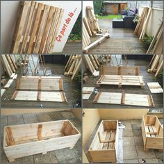 If space is an issue the answer is to use garden boxes. In this article we will show you how all about making raised garden boxes the easy way. Pallet Garden Box, Wood Pallet Planters, Diy Planter Box, Garden Boxes, Diy Planters, Garden Planters, Diy Pallet Projects, Garden Projects, Pallet Ideas
