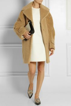 Rochas. Textured wool and cotton-blend cocoon coat