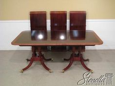 2204 BAKER Historic Charleston Mahogany Dining Room Table