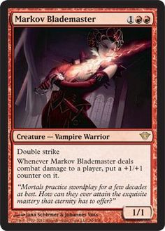 Magic: the Gathering - Markov Blademaster (96) - Dark Ascension by Wizards of…