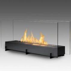 Eco-Feu Vision ll Free Standing Bio Ethanol Fireplace