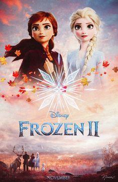 Frozen 2 fan poster by nima nakhshab Frozen Disney, Princesa Disney Frozen, Frozen Art, Frozen Movie, 2 Movie, Art Disney, Disney Films, Disney And Dreamworks, Disney Love