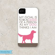 "personalized custom iPhone 5 cell phone case - ""good dog"". $40.00, via Etsy."