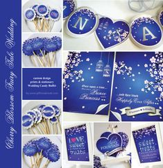 Cherry Blossom Fairy Tale Wedding in Royal Blue & Silver royal blue wedding themes Gift Me   All about Real Weddings - Wedding Blog