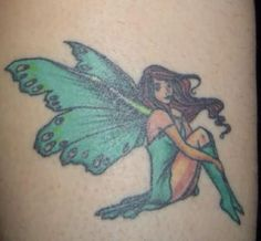 Fairy Green Dress Tattoo