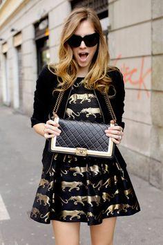 Leopard print dress ♡ gold