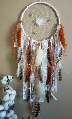Large Dreamcatcher Big Dream Catcher Wall Hanging Boho Dreamcatcher Make your wall beautiful with this boho style feather dream catcher! Hang in the bedroom, nursery, living room, at a party, as wedding decor, baby shower gift, the possibilities are endless! Big Dream Catchers, Dream Catcher Decor, Large Dream Catcher, Feather Dream Catcher, Dream Catcher Boho, Goose Feathers, Pheasant Feathers, Boho Dreamcatcher, Beautiful Wall