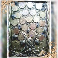 """""""Money, money, money Must be funny..."""" Подпевайте))) 3d картина. Денежное дерево. #холодныйфарфорнск #Академгородок #своимируками…"""