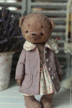 Купить Мишка.. - коричневый, мишка, мишка тедди, тедди, мишка девочка, мишка винтаж, подарок