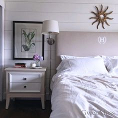 s save those torn curtains for these 11 brilliant ideas, home decor, window treatments, Upholster it into a monogramed headboard Diy Headboards, Wood Headboard, Headboard Ideas, Painted Furniture, Diy Furniture, Furniture Repair, Torn Curtain, Oak China Cabinet, Dresser As Nightstand