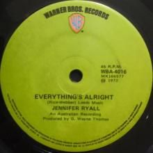 EVERYTHING'S ALRIGHT / SANDY | JENNIFER RYALL | 7 inch single | $20.00 AUD | music4collectors.com