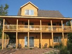 3BR, 2BA Lakefront Log Home Sleeps 10  $150  UP  fire pit  fireplace  secluded