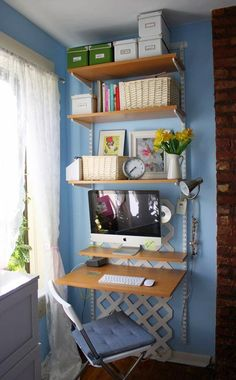 DIY Home Office (for small spaces) • Ideas & Tutorials!